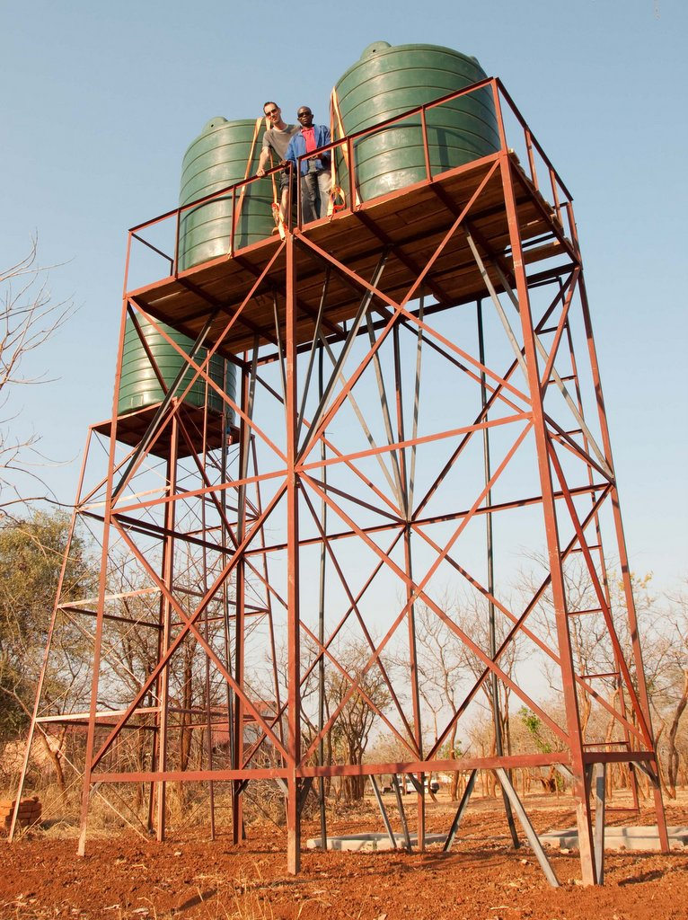 Coster and me on the new water tower